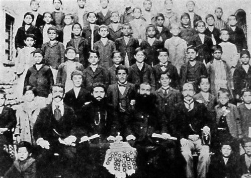 Students of Armenian school – 1904