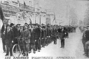 Armenian Volunteers on Champs-Elysées