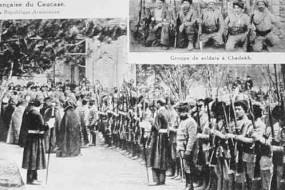 Catholicos blessing the volunteers – 1919