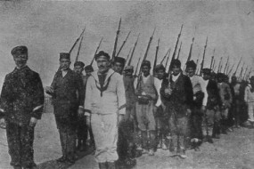 The Armenian Volunteers landing at Port-Saïd