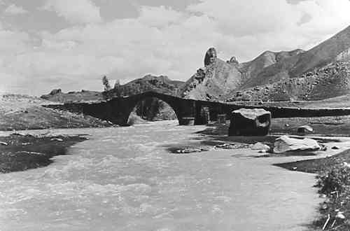 Ancient bridge on Arpa River