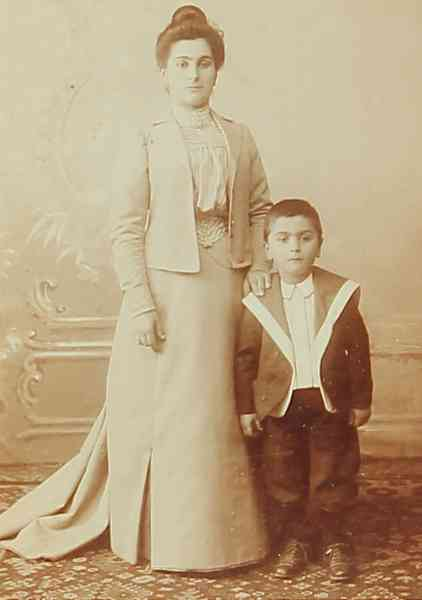 Mrs Perouse Mosdikchian and her son Levon