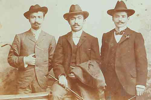 Young Armenian men – Smyrna 1902