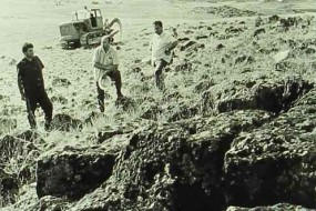 Removal of stones near Ashtarak