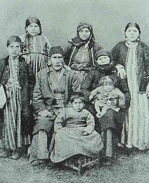 Morenig village chief with his family
