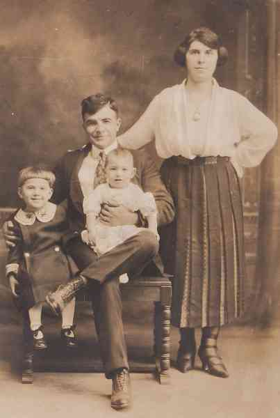 Unidentified Armenian family in the USA