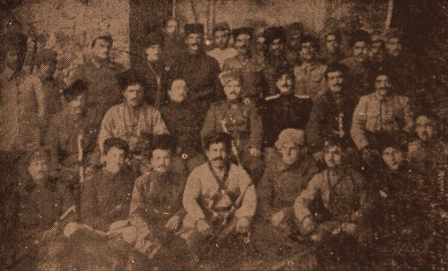 Armenian volunteers with General Antranig and Vahan Tcheraz