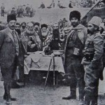 Armenian Hnchakian volunteers participating in a swearing-in ceremony in the Caucasus