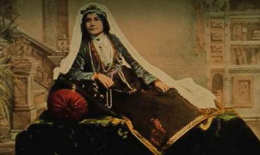 Young Armenian woman in traditional costume