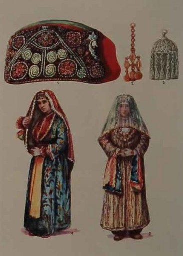 Armenian costumes of Tabriz and Partsr Hayk