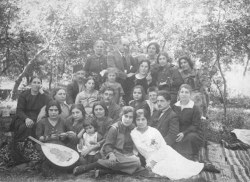 Armenians from Kharpert having a picnic in Lebanon – 1923