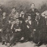 Group of young Armenians gathered around Ashkhadank newspaper