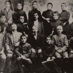 Armenian graduates of the Lusavorchian high school with their teachers 1914