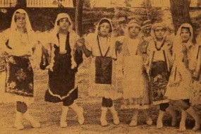 Dance teacher with her students