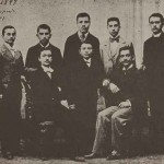 Promotion of the Getronagan Armenian High School (1898 - 1899) with their director Karnig Parounagian