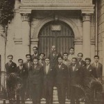 Promotion of the Getronagan with their teacher Bedros Adrouni in 1932