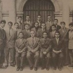 Promotion of the Getronagan Armenian High School with their director H. Hampartsumian in 1955