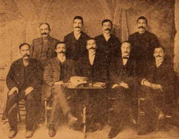 Managing board of the Armenian National Hospital of Sebastia (Sevaz) – 1914