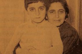Doctor Eliz Khaznejian and his son