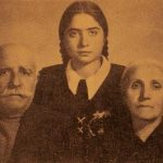 Garabed and Soghmen Ghasabian with their granddaughter Vesleda - Erevan