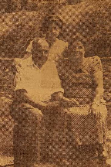Harutiun and Serpuhi (Balian) Madanian, and their daughter Anahid – Kislovodsk North Caucasus