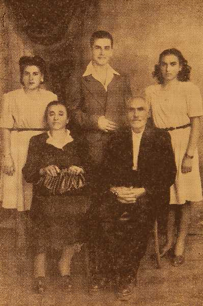 Mr and Mrs Djanig Simonian and their children – Beirut