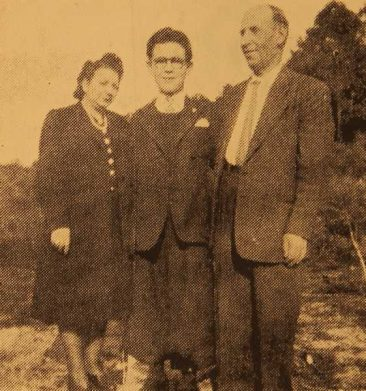 Mr and Mrs Tavit Chatalian with their son Gilbert – Paris