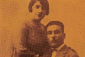Serovpe Baylozian and his wife
