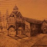 Surp Asdvadzadzin Church of Garin, sketched by V. Ghazikian