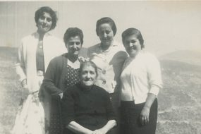 Arpi Kazanjian with relatives