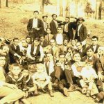 Yeranui Kaloyan's grandfather with friends near Mexico City - 1927