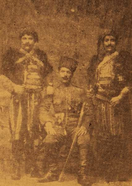 Ziro, Zorig and a soldier from Aragh