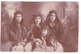 Vartanoush Assadourian with her friends in Aleppo – 1925