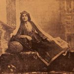 Armenian girl in 19th century costume of Garin