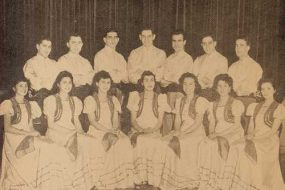 Folk Dance group of the Boston Chapter – 1945
