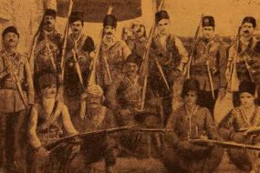 Group of Armenian volunteers in Akdagh