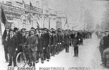 Armenian Volunteers on Champs-Elysées