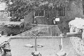 Armenian men weaving