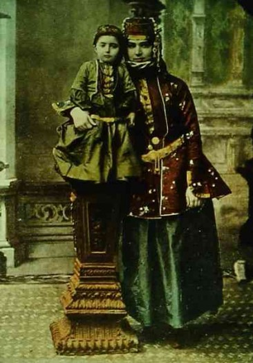 Nakhichevan Armenian mother (colored version)