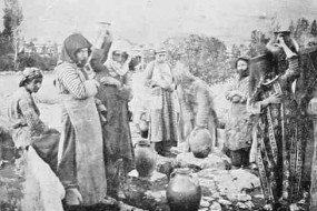 Armenian women at the fountain – Mokhrapert