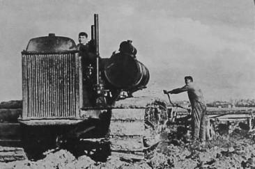 Tractor in Soviet Armenia