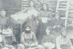 Armenian women working the cotton