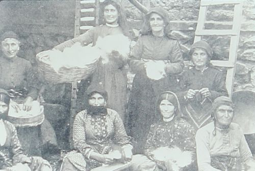 Armenian women working the cotton