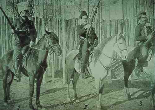 Armed horsemen in Van