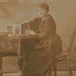 Unidentified Armenian woman writting