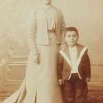 Mrs Perouse Mosdikchian and her son Levon