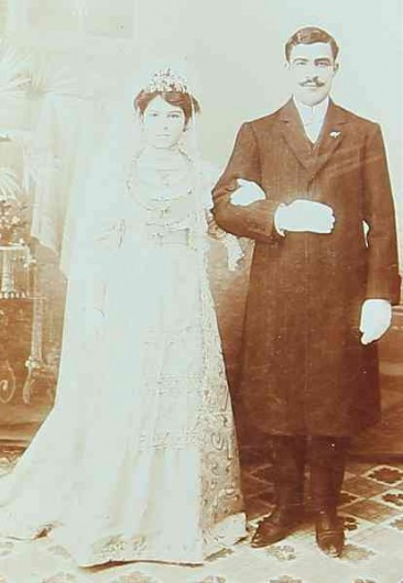 Karnig Baghtchedjian and his young wife – Konya 1902
