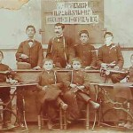 Sewing school teacher Vartan Karayan in Gurin - 1900