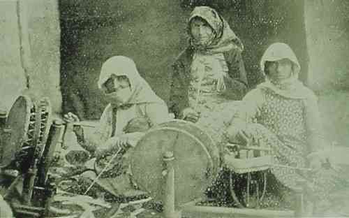 Armenian women spinning