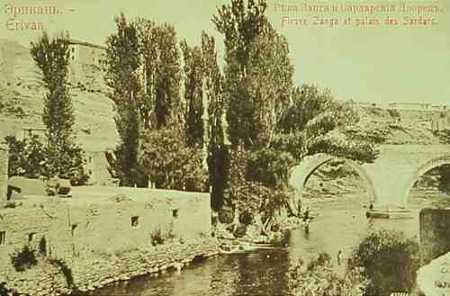 Hrazdan River and Palace of the Sardars